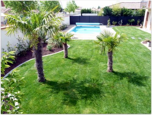 jardin contemporain avec piscinegarden creart. Black Bedroom Furniture Sets. Home Design Ideas